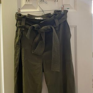 Topshop paper bag waist, cargo pants